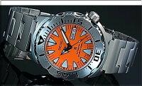 SEIKO/PROSPEX【セイコー/プロスペックス】メンズDIVER'S/ダイバーズウォッチ自動巻メンズ腕時計メタルベルトオレンジ文字盤MADEINJAPAN海外モデルSRP309J1
