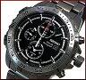 SEIKO/Alarm Chronograph【セイコー/アラームクロノグラフ】メンズ ソーラー腕時計 ガンメタメタルベルト ブラック文字盤 SSC301P1 海外モデル【02P03Dec16】