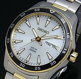SEIKO/ソーラー時計【セイコー】メンズ腕時計 コンビメタルベルト シルバー文字盤 SNE394P1 海外モデル