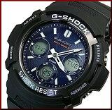 CASIO/G-SHOCK【カシオ/Gショック】ソーラー電波腕時計 メンズ ブラック/ネイビー(海外モデル)AWG-M100SB-2A【02P05Nov16】