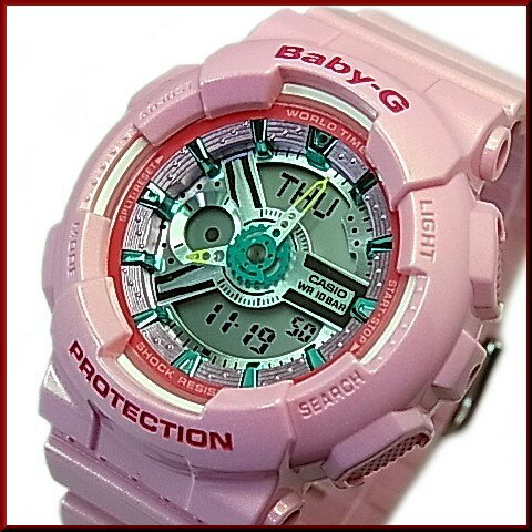 CASIO/Baby-G【カシオ/ベビーG】BA110シリーズ レディース腕時計 ライトピンク(国内正規品)BA-110CA-4AJF ★2015年11月新作★☆腕時計 レディース☆