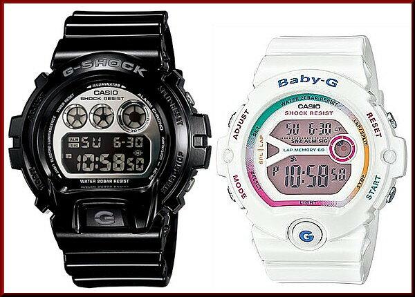 CASIO/G-SHOCK/Baby-G【カシオ/Gショック/ベビーG】ペアウォッチ 腕時計 ブラック/ホワイト DW-6900NB-1JF/BG-6903-7CJF(国内正規品)【02P05Nov16】