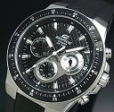 CASIO/EDIFICE【カシオ/エディフィス】クロノグラフ メンズ腕時計 ブラック文字盤 ブラックラバーベルト EF-552-1AV 海外モデル