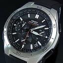 CASIO/Wave Ceptor【カシオ/ウェーブセプター】メンズ ソーラー電波腕時計 クロノグラフ ブラック文字盤 ブラックラバーベルト(国内正規品)WVQ-M410-1AJF