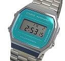 ショッピングチープカシオ CASIO/Alarm Chronograph【カシオ/アラームクロノグラフ】ユニセックス 腕時計 メタルベルト メタリックライトブルー A168WEM-2 海外モデル【並行輸入品】