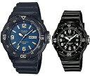 CASIO/Standard【カシオ/スタンダード】アナログクォーツ ペアウォッチ 腕時計 ラバーベルト ブラック 海外モデル【並行輸入品】MRW-200H-2B3/LRW-200H-1B