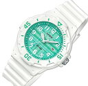 ショッピングチープカシオ CASIO/Standard【カシオ/スタンダード】アナログクォーツ レディース腕時計 ホワイトラバーベルト グリーン文字盤 海外モデル【並行輸入品】LRW-200H-3C
