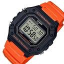 ショッピングチープカシオ CASIO/Standard【カシオ/スタンダード】アラームクロノグラフ メンズ腕時計 デジタルモデル オレンジケース ブラックラバーベルト 海外モデル【並行輸入品】W-218H-4B2
