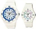 CASIO/Standard【カシオ/スタンダード】アナログクォーツ ペアウォッチ 腕時計 ラバーベルト ホワイト 海外モデル【並行輸入品】MRW-200HC-7B2/LRW-200H-7B