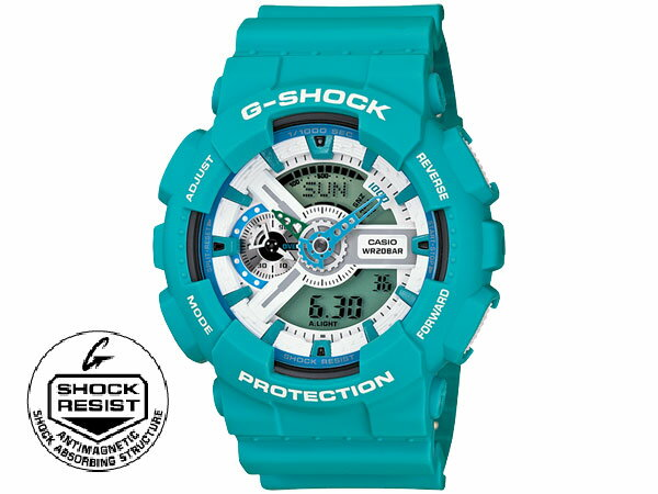 【3/17~3/23 アフターセール実施中!】カシオ CASIO Gショック G-SHOCK ブリージーカラーズ アナデジ腕時計 GA110SN-3 ブルー ウォッチ 時計 うでどけい カシオ 腕時計 gショック casio ブリージーカラーズ アナデジ メンズ レディース ブルー G-SHOCK アウトドア スポーツ ギフトやプレゼントにも大人気