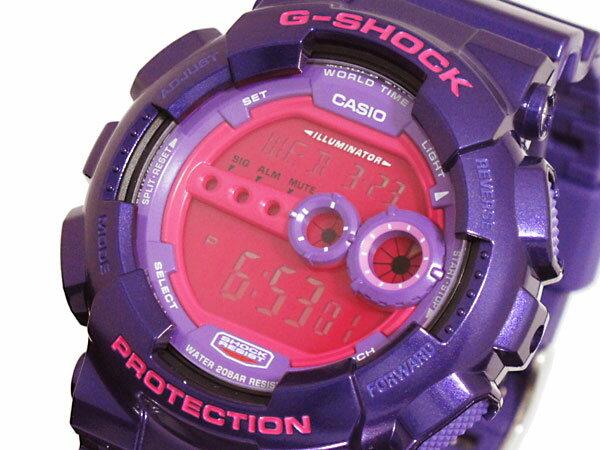 【3/17~3/23 アフターセール実施中!】カシオ CASIO Gショック G-SHOCK 高輝度LED 腕時計 GD100SC-6 カシオ 腕時計 gショック casio 高輝度LED メンズ レディース パープル ピンク G-SHOCK 防水 アウトドア ギフトやプレゼントにも大人気