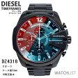 【送料無料】【あす楽】ディーゼル 腕時計 クオーツ メンズ クロノ ブラック DZ4318 ミラーガラス ウォッチ DIESEL 時計 うでどけい