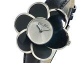 【送料無料】フォリフォリ FOLLI FOLLIE フラワーモチーフ クオーツ レディース 腕時計 WF5T079SP ブラック×シルバー