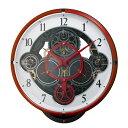 【送料無料】ガンダム シャーカスタム 電波掛け時計 からくり時計 4MN534MG01 レッド