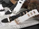 シリコン×ステンレス メンズ 腕時計 替えベルト RBSIL30-22-BKGD ブラック×ゴールド
