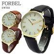 【あす楽】フォーベル FORBEL クオーツ ユニセックス 腕時計 FB-50509-BK ブラック