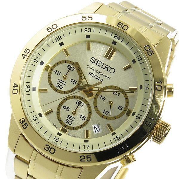 【3/17~3/23 アフターセール実施中!】セイコー SEIKO クオーツ クロノ メンズ 腕時計 SKS526P1 ゴールド カジュアル~ビジネスシーンでも使えるインポート腕時計/財布/鞄/バッグ/スーツケースを多数ご用意!ディーゼル/アディダス/チプカシには自信があります!【10800円以上送料無料】