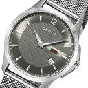 【送料無料】グッチ GUCCI Gタイムレス クオーツ メンズ 腕時計 YA126315 グレー