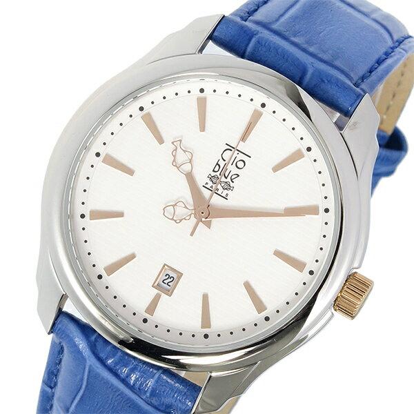 【送料無料】クリオブルー Clio Blue クオーツ メンズ 腕時計 CB010-12-2S ホワイト カジュアル~ビジネスシーンでも使えるインポート腕時計/財布/鞄/バッグ/スーツケースを多数ご用意!ディーゼル/アディダス/チプカシには自信があります!【10800円以上送料無料】