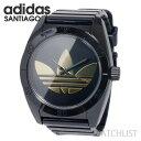 【あす楽】アディダス adidas Originals サンティアゴ SANTIAGO 腕時計 ADH2705 マットブラック×ゴールド ウォッチ 時計 うでどけい ロゴ adidas originals【SS09-adh】【RCP】