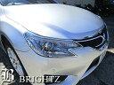 【BRIGHTZ マークX 130 133 135 中期 後期 メッキヘッドライトリング】 マークエックス フロント ランプ パネル リム