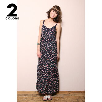 Floret print ★ maxiskirt length ★ one piece ♪ 10P01Sep13