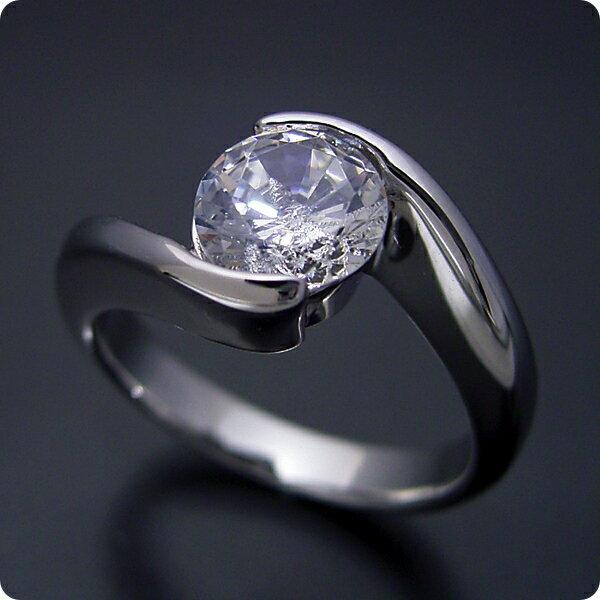 100万円 婚約指輪 1カラット エンゲージリング 1ctダイヤモンド プロポーズ用 ブライダルジュエリー プラチナ 1カラット版:抱き合わせ伏せこみタイプの婚約指輪 Gカラー・VS2クラス・Goodカット 宝石鑑定書付き