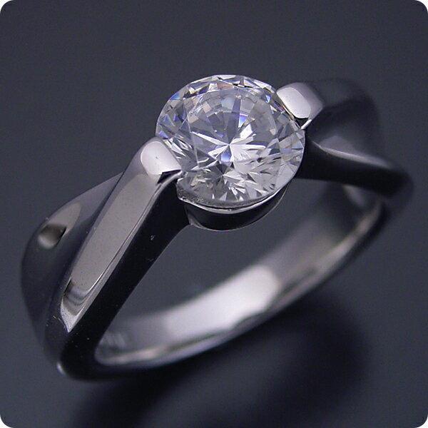 100万円 婚約指輪 1カラット エンゲージリング 1ctダイヤモンド プロポーズ用 ブライダルジュエリー プラチナ 1カラット版:デザイン性が豊かなスタンダードな婚約指輪 Gカラー・VS2クラス・Goodカット 宝石鑑定書付き