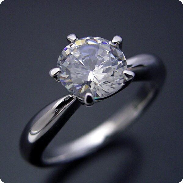 【婚約指輪】1カラット【1ct】ダイヤモンド【エ...の商品画像