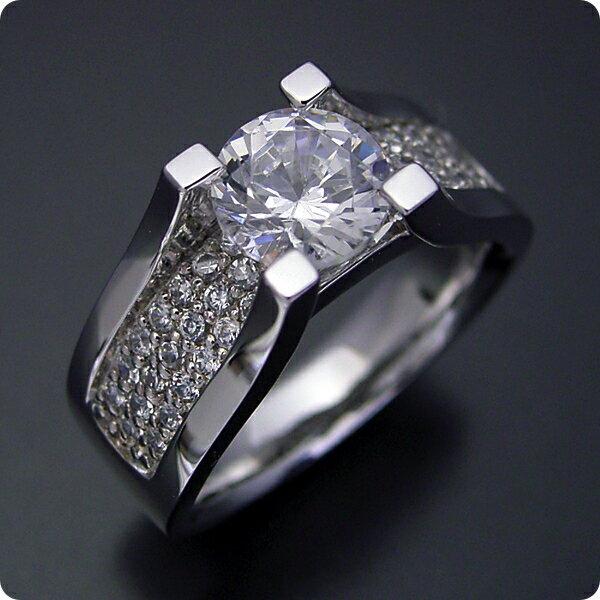 【婚約指輪】1カラット【1ct】ダイヤモンド【エンゲージリング】プラチナ【ブライダルジュエリー】結婚指輪【マリッジリング】受注生産品【1カラットダイヤモンドの大きさを生かした婚約指輪】Eカラー・VS1クラス・VeryGoodカット【宝石鑑定書付き】