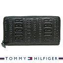 トミーヒルフィガー 財布 TOMMY HILFIGER メンズ長財布 ラウンドファスナー ブラック 31TL13X026