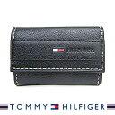 トミーヒルフィガー キーケース TOMMY HILFIGER 6連キーケース ブラック 31TL17X014