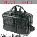 【即納・代引/送料無料】TUMI 96141DH ブラック(黒) Alpha Travel & Business 『エクスパンダブル・オーガナイザー・レザー・コンピューター・ブリーフ』【40%OFF!】( トゥミ バッグ ブリーフケース 96141 アルファ )