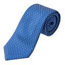 フェンディ ネクタイ FENDI 0VL X8A ブランド小物 TIE メンズ BLU CINA BLU(ブルチーナブル) ブルー 青 シグニチャー 格子 エレガント 上品【 送料無料】