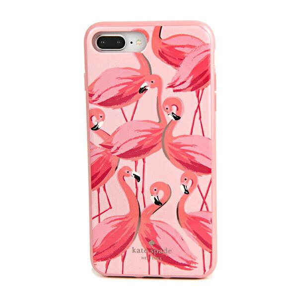 ケイトスペード iPhone7 Plus/iPhone8 Plus スマートフォンケース kate spade 8ARU2730 673 ブランド小物 アイフォンケース IPHONE CASES PAINTED FLAMINGOS レディース PINK MULTI ピンクマルチ フラミンゴ アイフォン7プラス/8プラス スマホケース アイフォーンケース【