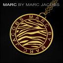 マークバイ マークジェイコブス ネックレス MARC BY MARC JACOBS M0002128 81460 アクセサリー ニュープラーク NEW PLAQUE Zebra coin pandant ゼブラコインペンダント レディース CABERNET RED レッド 赤 ロゴ【 送料無料】