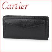 カルティエ 長財布(ラウンドファスナー) CARTIER L3001354 財布 レ マスト ユニセックス ブラック 黒 【カルチェ 送料無料 楽天】