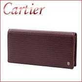 カルティエ 長財布 CARTIER L3001424 財布 ルイ カルティエ LOUIS CARTIER メンズ ボルドー 赤 2つ折り シンプル【カルチェ 送料無料 楽天】