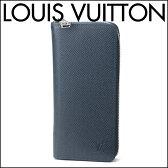 ルイヴィトン 長財布(ラウンドファスナー) Louis Vuitton M32837 財布 タイガ TAIGA ジッピーウォレット ヴェルティカル メンズ OCEAN(オセアン) ネイビー 紺 シンプル 上品【ルイヴィトン ビトン 送料無料】