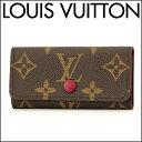 ルイ・ヴィトン キーケース Louis Vuitton M60705 ブランド小物 モノグラム MONOGRAM ミュルティクレ4 レディース FUCHSIA(フューシャ) ブラウン/ピンク ロゴ バ