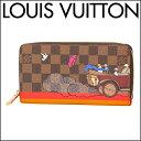 ルイヴィトン 長財布(ラウンドファスナー) Louis Vuitton N61240 財布 ダミエ DAMIER ジッピー・ウォレット レディース DARK B...