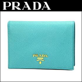 プラダ(PRADA)サフィアーノメタルSAFFIANOMETAL1M0668財布・小物財布シンプルロゴシンプル雑誌掲載レディース