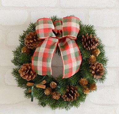 ■クリスマス定番商品■クリスマスリース30センチ■キット・材料・花材・マニュアル■リース 手作りキット■造花 もみの木■クリスマスリース 手作りキット■クリスマスリース■光触媒・リース■リース玄関・リース造花・