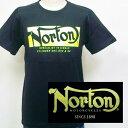ショッピングノート ノートン Norton ネオンロゴ半袖Tシャツ 182N1022 アメカジ バイカー ロッカーズ