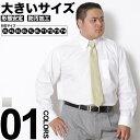 長袖ワイシャツ メンズ 大きいサイズ ボタンダウン 形態安定 防汚加工 白無地 ホワイト 3L-8L
