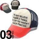 キャップ 帽子 メンズ 大きいサイズ メッシュキャップ 綿100% メッセージプリント切り替え CASTANO
