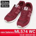 大きいサイズ メンズ new balance (ニューバランス) ML574WC ENCAP レザー メッシュ切り替え ローカットスニーカー [29.0 30.0 cm] サカゼン ビッグサイズ カジュアル 靴 シューズ スニーカー 切り替え 安定性 クッション性