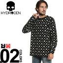 HYDROGEN (ハイドロゲン) 綿100% モノグラムプリント クルーネック Tシャツブランド メンズ 男性 カジュアル ファッション ...
