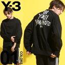Y-3 (ワイスリー) スリーライン YOHJI YAMAMOTO クルーネック スウェットブランド メンズ 男性 カジュアル ファッション トップス スエット アディダス グラフィック Y3DY7157
