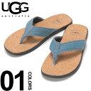 ショッピングトング UGG Australia (アグ オーストラリア) ストラップ裏メッシュ コルク トングサンダル SEASIDE FLIP BLUEブランド メンズ 男性 カジュアル ファッション 靴 シューズ ビーチサンダル 海 夏 シンプル UGG1099749